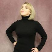 Платье-лапша черного цвета
