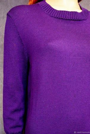 Платье оверсайз цвета ультрафиолет ручной работы на заказ