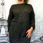 Платье оверсайз серого цвета