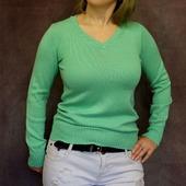 Пуловер мятного цвета