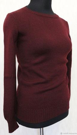 Джемпер цвета марсала (2 размера) ручной работы на заказ