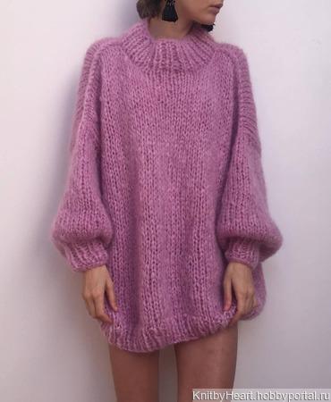 Стильный вязаный мохеровый свитер в Нижнем Новгороде ручной работы на заказ