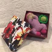 Подарочный набор для новорожденной крючком «Наше счастье»
