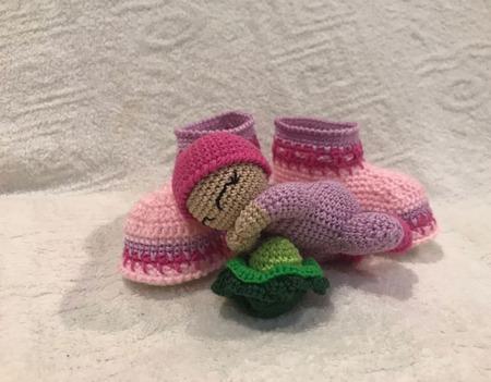 Подарочный набор для новорожденной крючком «Наше счастье» ручной работы на заказ