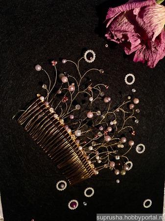 Гребень «Золотая изысканность» ручной работы на заказ