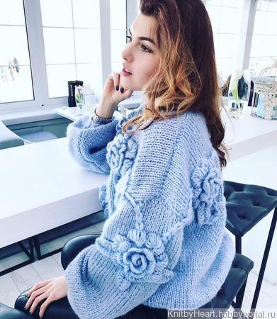 Модный вязаный свитер ручной работы в СПБ ручной работы на заказ