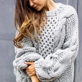 Модный вязаный свитер ручной работы в Москве