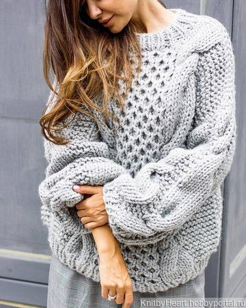 Модный вязаный свитер ручной работы в Москве ручной работы на заказ