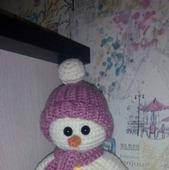 Снеговик-амигуруми