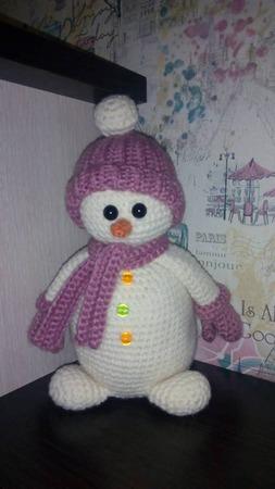 Снеговик-амигуруми ручной работы на заказ