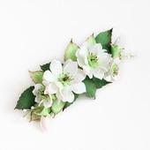 """Заколка с белыми цветами """"Доброе утро"""""""