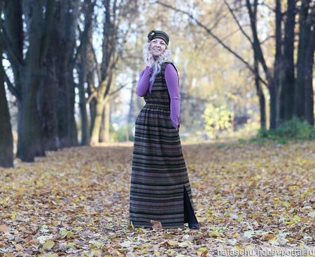 Платье в ретро стиле на осень и зиму ручной работы на заказ
