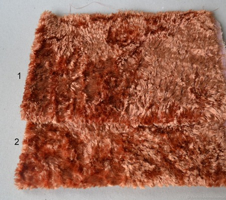 Плюш винтажный ручного окраса №11 ручной работы на заказ