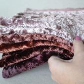 Плюш винтажный ручного окрашивания №3