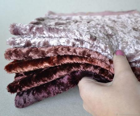 Плюш винтажный ручного окрашивания №3 ручной работы на заказ