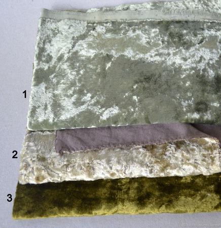 Плюш винтажный ручного окраса №4 ручной работы на заказ