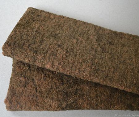 Плюш винтажный заваленный ручной работы на заказ