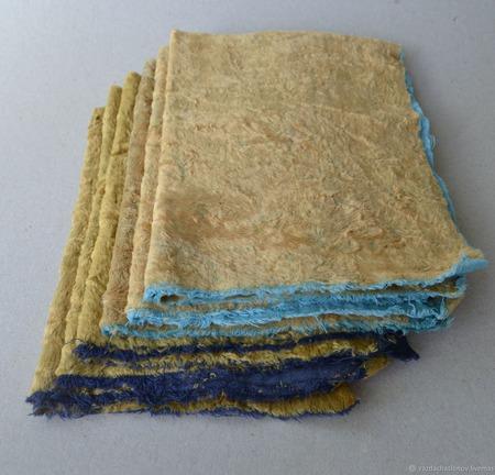 Плюш винтажный с контрастной основой №2 ручной работы на заказ