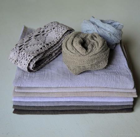 """Набор тканей ручного окраса """"Каньон"""" ручной работы на заказ"""