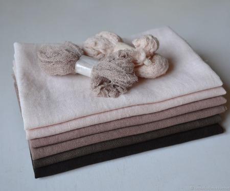 """Набор тканей ручного окрашивания """"Терра"""" ручной работы на заказ"""