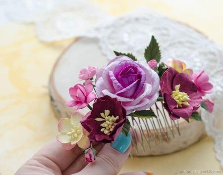 Гребень Пурпурный ручной работы на заказ
