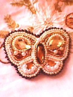 Брошь бабочка из бисера ручной работы на заказ
