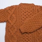 Вязаный свитер толстой вязки ручной работы в Москве