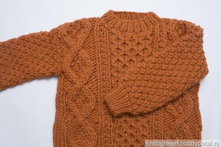 Вязаный свитер толстой вязки ручной работы в Москве ручной работы на заказ