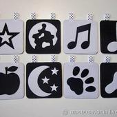 Черно-белые карточки для новорожденных