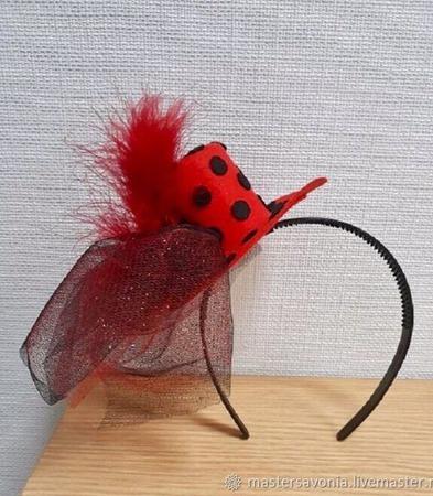 Шляпка-цилиндр на ободке ручной работы на заказ