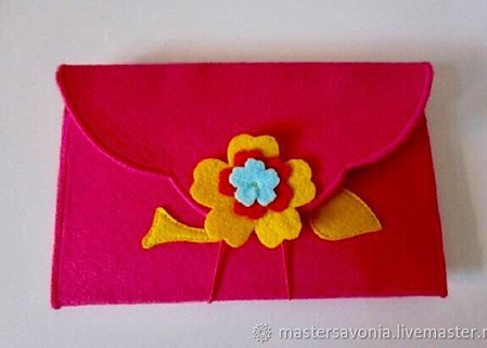 Подарочный конверт из фетра ручной работы на заказ