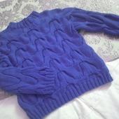 Модный вязаный свитер из хлопка ручная вязка
