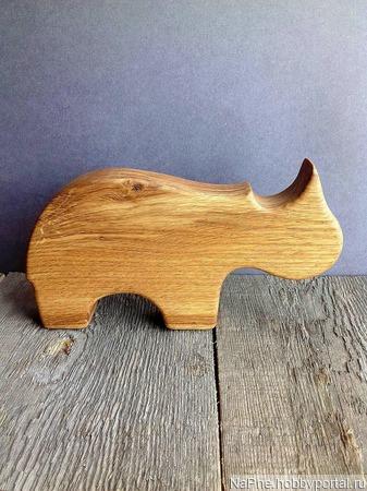 """Деревянные игрушки """"Сафари"""" (Слон, Жираф и Носорог) ручной работы на заказ"""