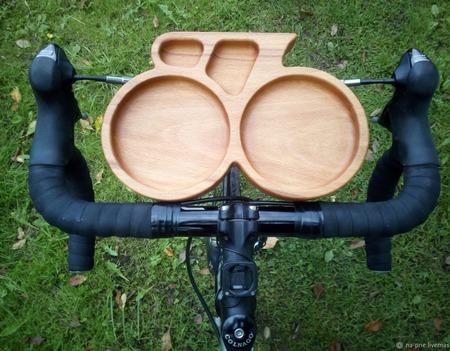 Тарелка из дерева Tour de France ручной работы на заказ