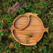 "Тарелка из дерева ""Лесная рыба"""