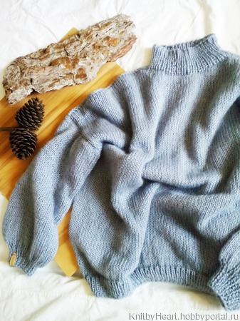Вязаный свитер оверсайз из мохера в Москве ручной работы на заказ