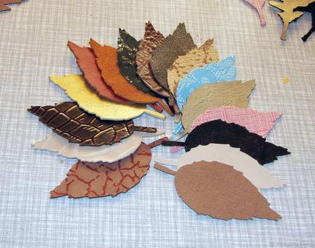 Листья из натуральной кожи, 50 шт ручной работы на заказ