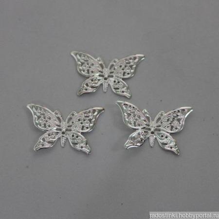 Декоративный элемент филигрань Бабочка ручной работы на заказ