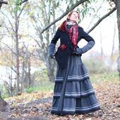 Шерстяная юбка в стиле бохо. Юбка на зиму