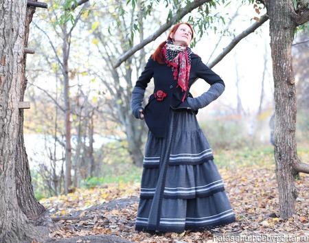 Шерстяная юбка в стиле бохо. Юбка на зиму ручной работы на заказ