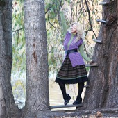 Двойная юбка миди на зиму