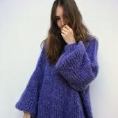Модный мохеровый свитер ручной работы в Москве