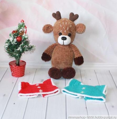 Вязаный Рождественский олень ручной работы на заказ