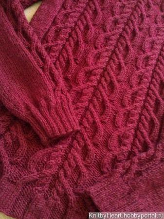 Кашемировый вязаный свитер ручной вязки в Москве ручной работы на заказ