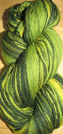 Пряжа Кауни Green-Yellow 8/2 ручной работы на заказ