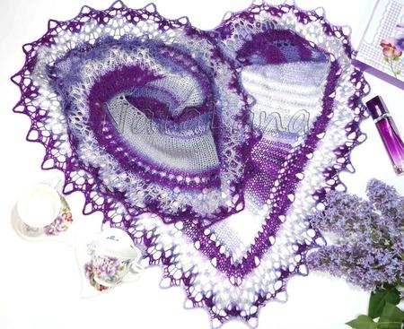 """Шаль-фишю """"Виолетта"""" ручной работы на заказ"""