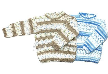 Пуловер меланжевый для мальчика ручной работы на заказ
