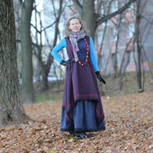 Бохо платье из полушерсти с подъюбником