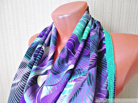 """Фиолетовый палантин ручной работы из ткани """"Сладкий ирис"""" ручной работы на заказ"""