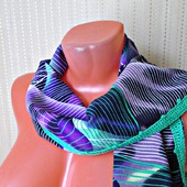 """Фиолетовый палантин ручной работы из ткани """"Сладкий ирис"""""""